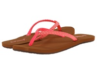 Reef Twisted Star Brights Neon Pink Women's Sandals