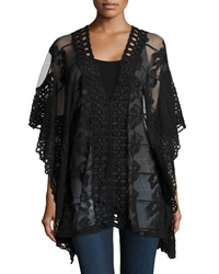 Xcvi Serafina Sheer Embroidered Tunic Black