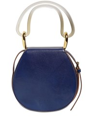 Marni Melville Leather Shoulder Bag Blue Red
