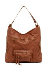 T Shirt And Jeans Washed Hobo Brown