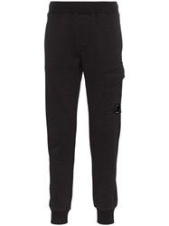 C.P. Company Cp Logo Cargo Pocket Track Trousers Black