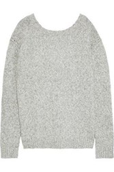 Line Beverly Marled Cotton Blend Sweater Light Gray