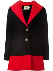 Fausto Puglisi Colour Block Short Coat Black