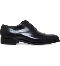 Barker Windsford Leather Oxford Shoes Black