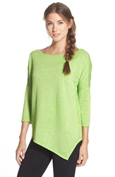 Betsey Johnson Asymmetrical Pullover Lucky Lime