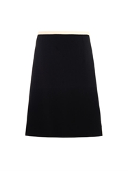 Goat Rodeo Wool Crepe A Line Skirt