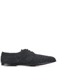 Dolce And Gabbana Woven Derby Shoes Black