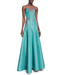 Pamella Roland Strapless Crystal Embroidered Taffeta Gown Women's Murano