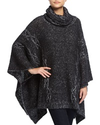 Christopher Fischer Oversized Cable Knit Poncho Black