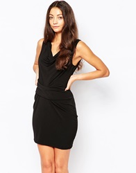 Selected Black Ruched Dress