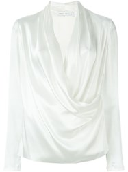 Camilla And Marc Satin 'Submerge' Top White