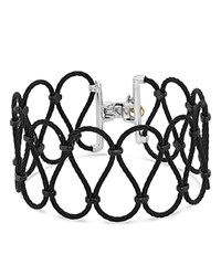 Alor Two Tone Looped Cable Bracelet Black