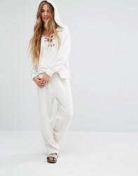 Wildfox Couture Easy Baggy Sweat Pants Alabaster White