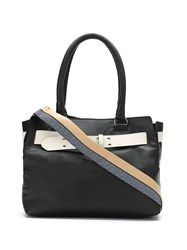 Mara Mac Leather Panelled Tote Bag Black