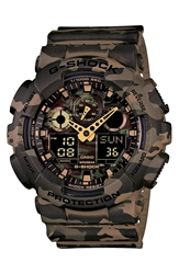 G Shock Xl Camouflage Pattern Ana Digi Watch 55Mm X 52Mm Regular Retail Price 150.00 Brown Camo