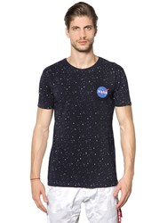 Alpha Industries Nasa Stars Printed Cotton Jersey T Shirt