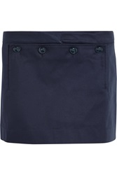 Acne Studios Dance Bonded Cotton Mini Skirt Blue