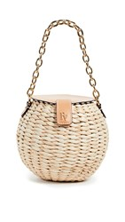 Frances Valentine Honeypot Crossbody Bag Natural Natural