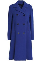 Vanessa Seward Double Breasted Wool Crepe Coat Royal Blue