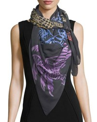 Anna Coroneo Modal Square Palm Trees Scarf Multi