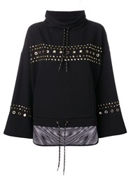 Versace Jeans Studded Loose Fit Sweatshirt Black