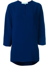 Gianluca Capannolo Relaxed Fit Blouse Blue