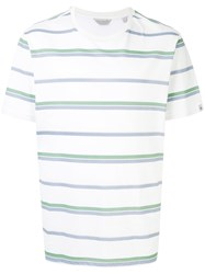 Gieves And Hawkes Striped T Shirt White