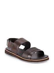 Calvin Klein Dex Leather Sandals Black