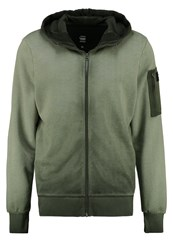 G Star Gstar Powel Hooded Zip Sw L S Tracksuit Top Asfalt Oliv