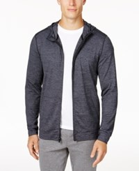 Ideology Id Men's Performance Zip Hoodie Only At Macy's Deep Black Heather