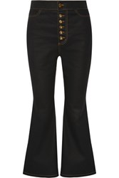 Ellery Pyramid Cropped Flared Jeans Black