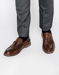 Red Tape Tassle Loafers Brown