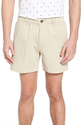 Vintage 1946 Snappers Elastic Waist 5.5 Inch Stretch Shorts Stone