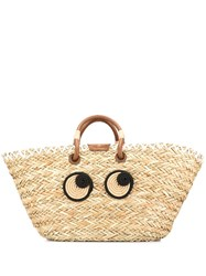 Anya Hindmarch Eyes Embroidered Tote Bag 60