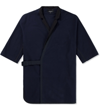 3.1 Phillip Lim Navy Judo Shirt Jacket