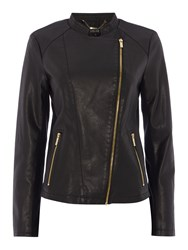 Episode Pu Jacket With Gold Hardware Black