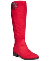 Impo Andrea Dress Boots Women's Shoes Scarlet Red Suede