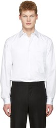 Christophe Lemaire White Straight Collared Shirt