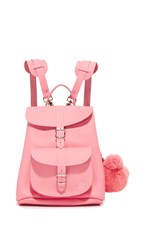 Grafea Katya Backpack With Bear Pom Pom Pink