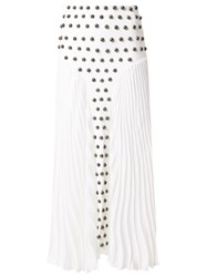 Andrea Bogosian Knit Skirt White