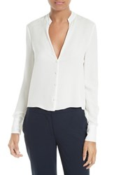 Diane Von Furstenberg Women's Stretch Silk V Neck Blouse