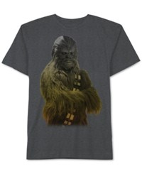 Jem Men's Star Wars Chewbacca Ombre Graphic Print T Shirt From Charcoal