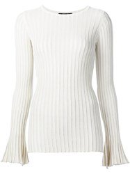 Derek Lam Ribbed Knit Jumper White
