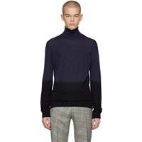 Boss Navy And Black Laparo Turtleneck