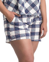 Carmakoma Plus Algol Plaid Shorts Blue