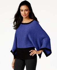 Alfani Colorblockd Poncho Sweater Only At Macy's Purple