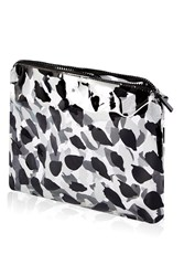 Topshop Marcus Leaf Large Wash Bag Black