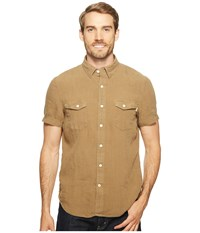 Timberland Short Sleeve Mill River Linen Cargo Shirt Capers Men's Clothing Brown