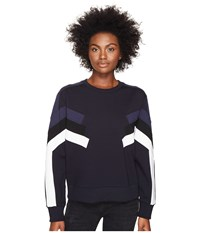 Neil Barrett Modernist Retro Sweatshirt I Black Blue Women's Sweatshirt