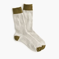 J.Crew Anonymous Ism Heavy Thermal Sock Natural